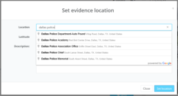 The location of evidence gathered is important, searchable and helps with analytics.